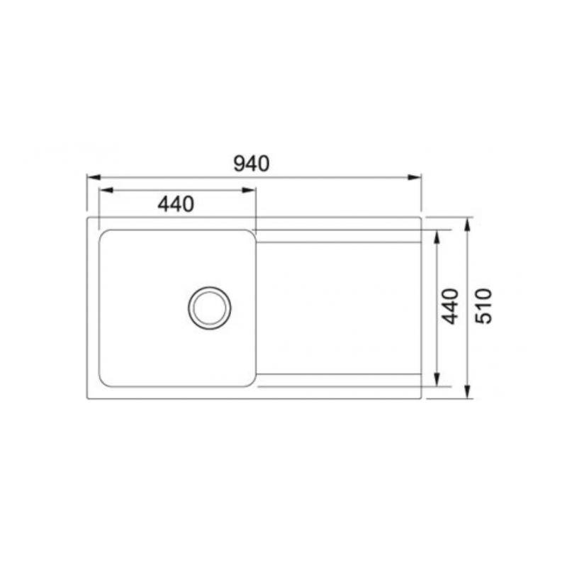 Tectonite Kitchen Sinks : Orion - OID 611-94 Tectonite Coffee Single Bowl Kitchen Sink