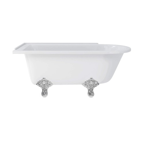 Hampton 1500 Freestanding Bath with Chrome Traditional Legs