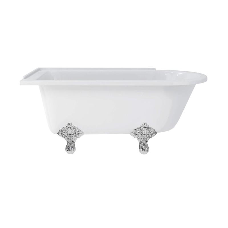 Hampton 1500 Freestanding Bath With Chrome Traditional Legs