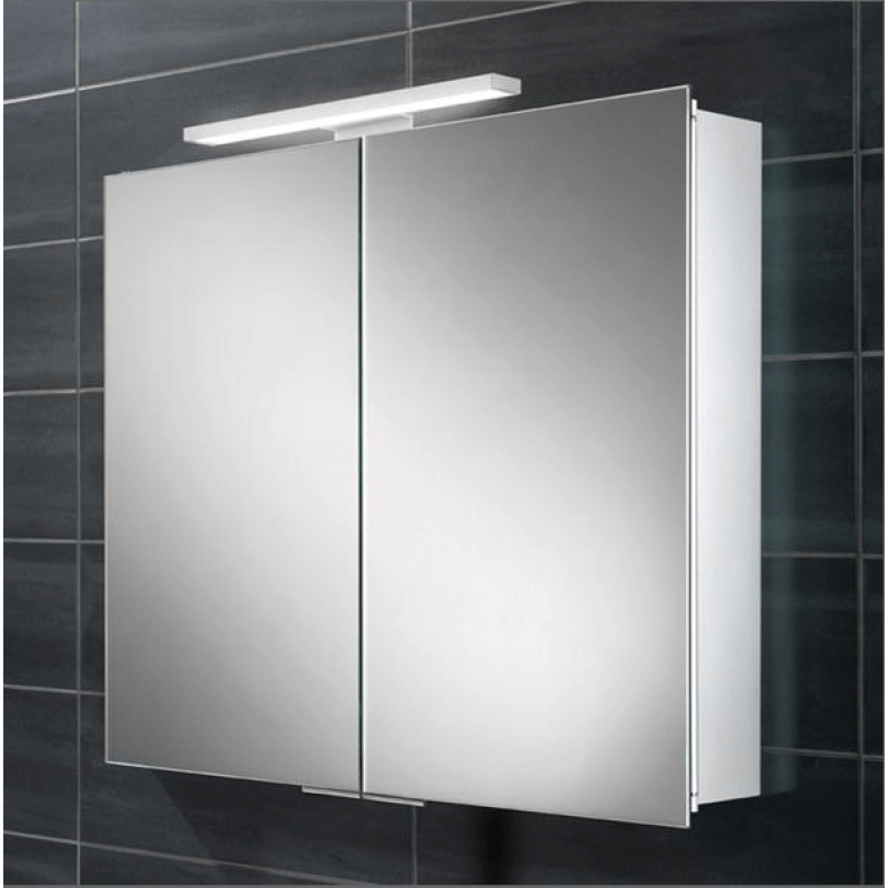 Neutron mirror cabinet with led overlight for Bathroom cabinets led
