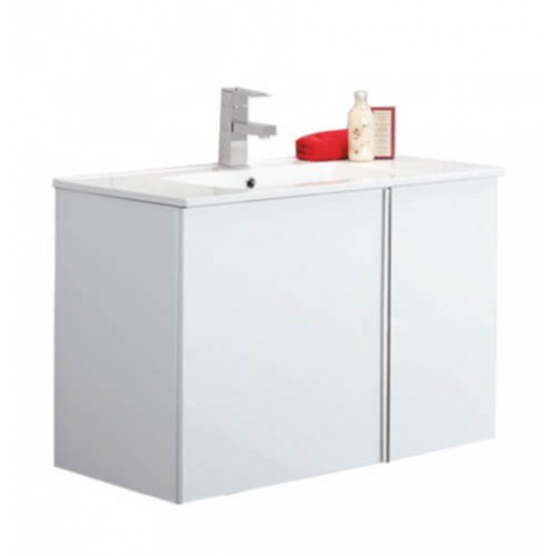 Avila White 80cm Wall Hung Vanity Unit
