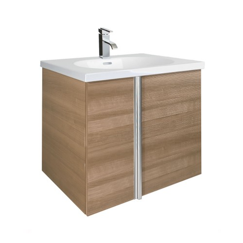 Avila Walnut 60cm Wall Hung Vanity Unit