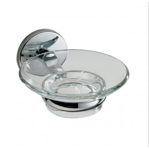 Lincoln Glass Soap Dish and Holder