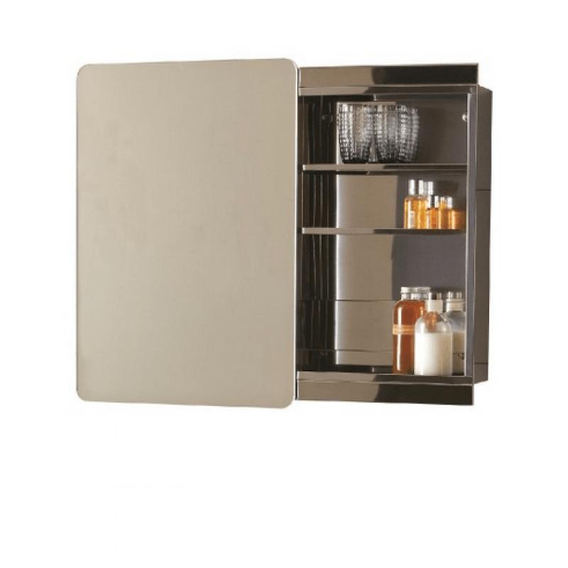 Stilo sliding door mirror cabinet 460 x 600 for Mirrored cabinet doors