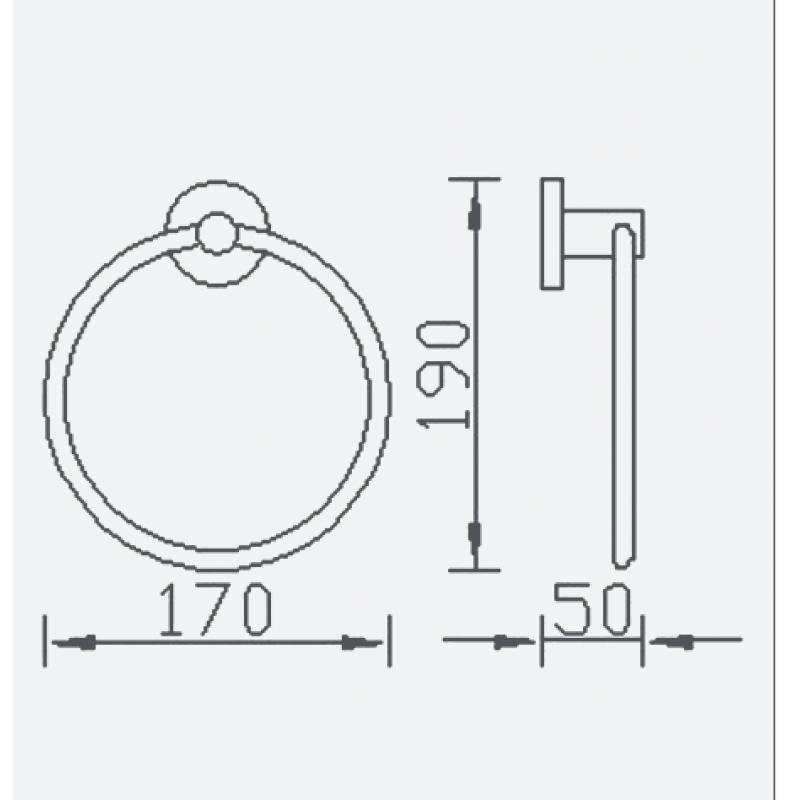 Aqualla Luca Towel Ring