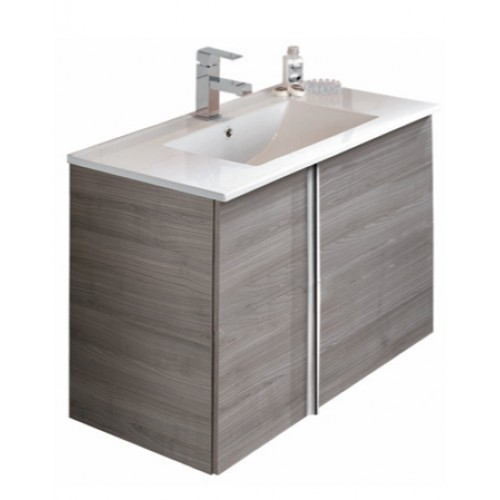 Avila Grey 80cm Wall Hung Vanity Unit