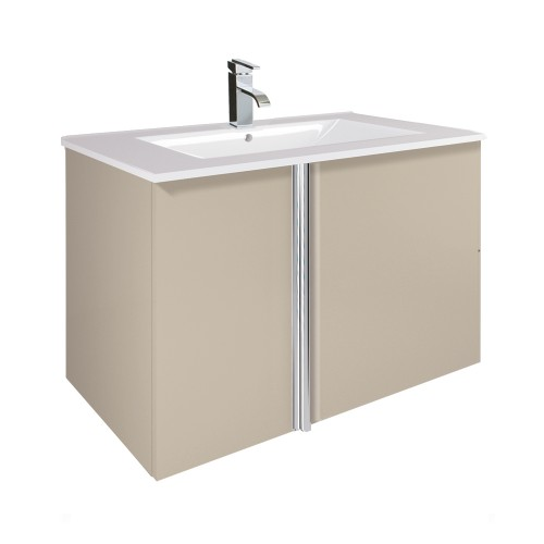 Avila Taupe 80cm Wall Hung Vanity Unit