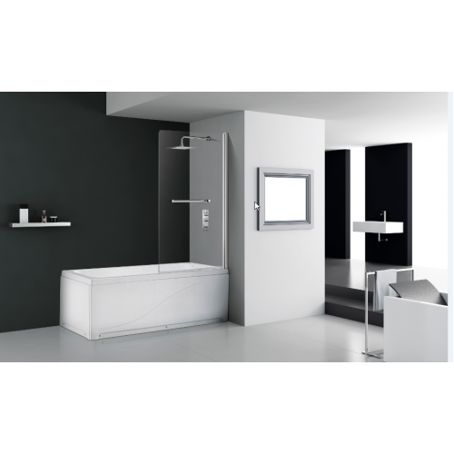 Flair Single Panel Square Bath Screen