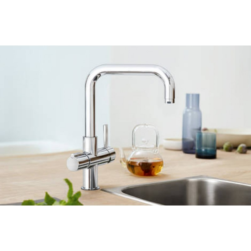 grohe red duo boiling sink mixer. Black Bedroom Furniture Sets. Home Design Ideas