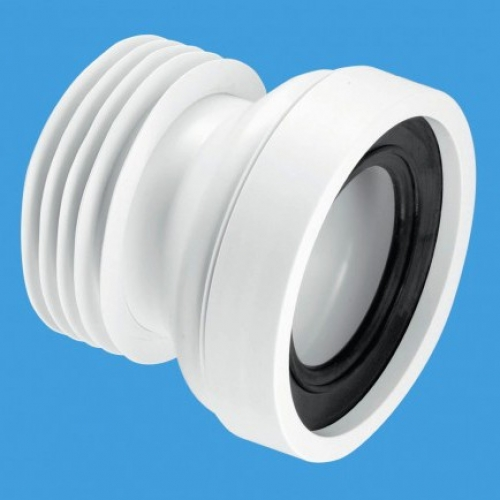 Straight Pan Connector White