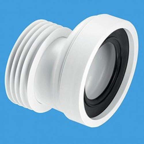 Offset Pan Connector White Plumbing