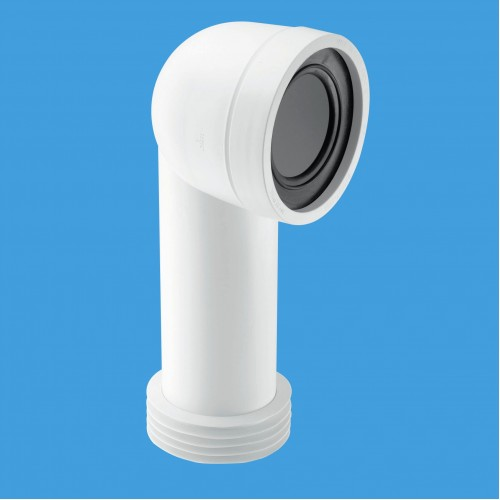 Bent Pan Connector 90⁰  White Plumbing