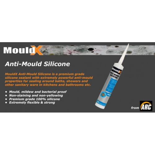Mouldex White Silicone 310ml Plumbing