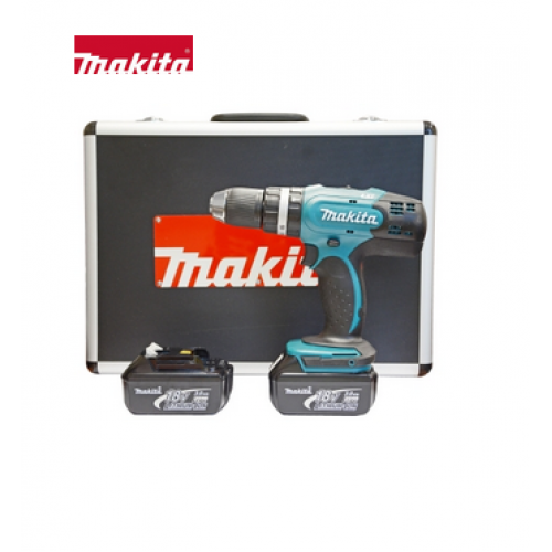 Makita Combi Drill 18V 2 Batteries Aluminium Case