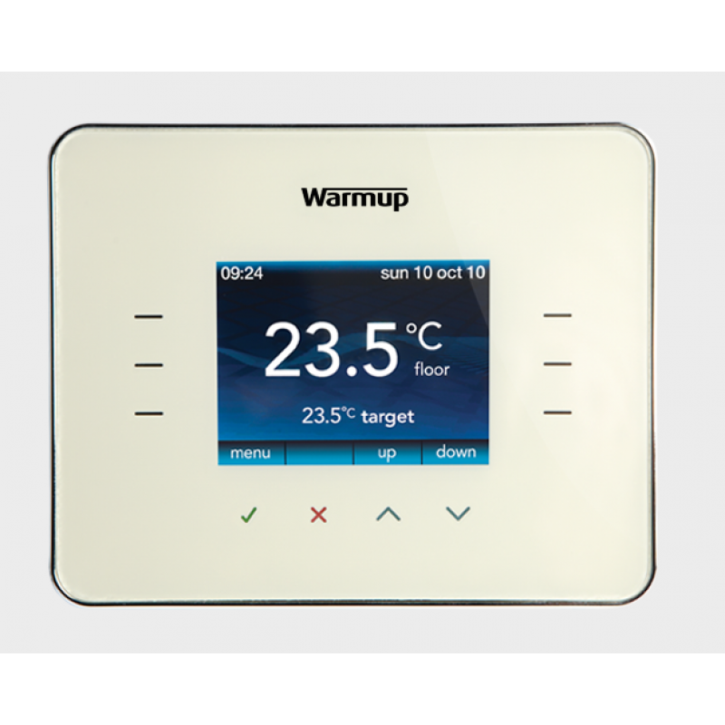 Warmup 3ie Thermostat Cloud White