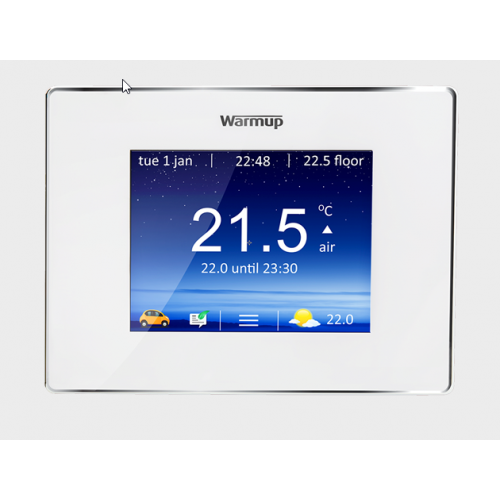 Warmup 4IE Thermostat - Cloud White