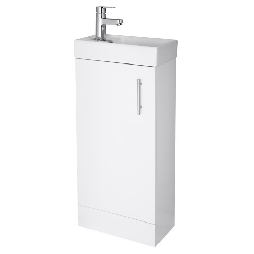 Minimalist Floor Standing Vanity Unit White Vanity Units