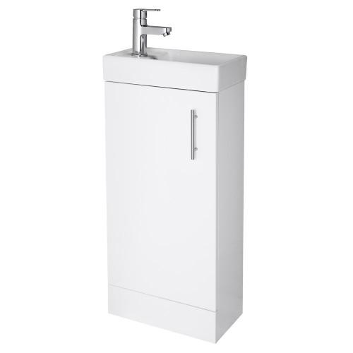 Minimalist Floor Standing Vanity Unit White