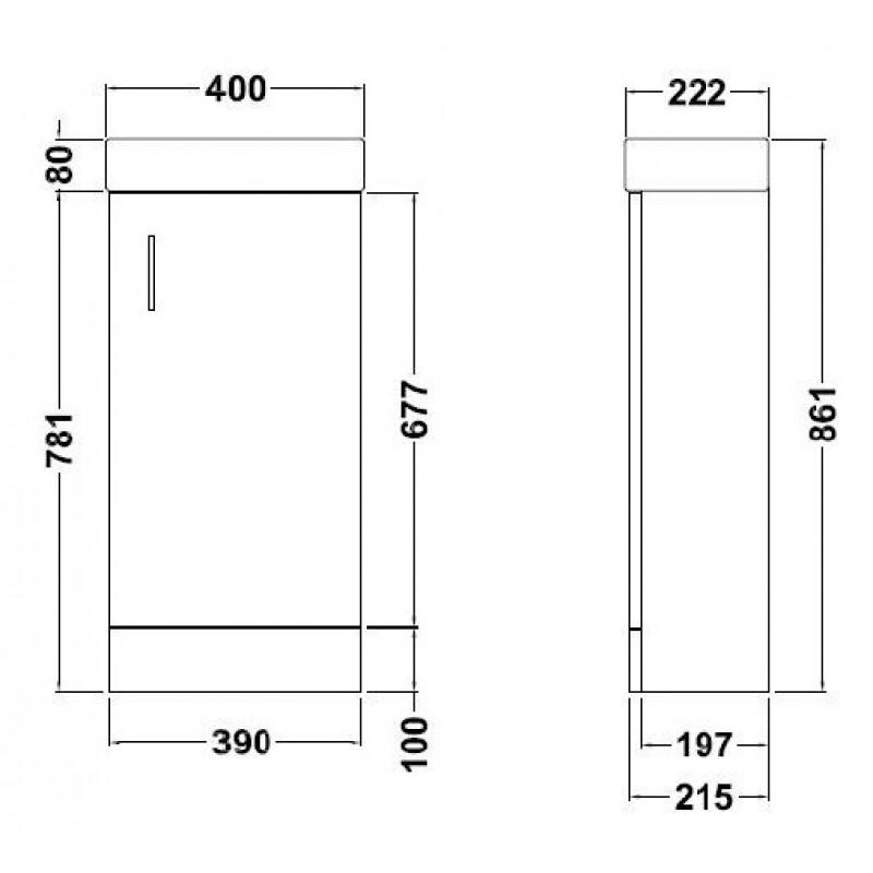 Minimalist Bathroom Vanity: Minimalist Floor Standing Vanity Unit White-RT Large-Davies