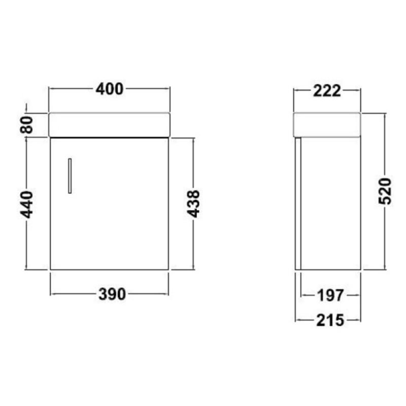 Minimalist Bathroom Wall Decor: Minimalist Wall Mounted Vanity Unit White-RT Large-Davies