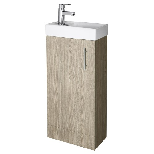 Minimalist Floor Standing Vanity Unit Light Oak Vanity Units