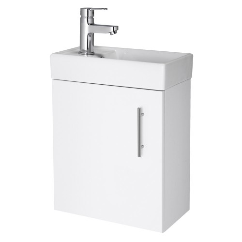 Minimalist Wall Mounted Vanity Unit White Vanity Units