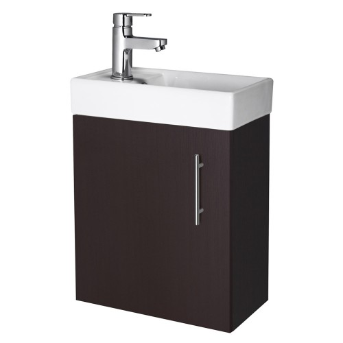 Minimalist Wall Mounted Vanity Unit Ebony Vanity Units