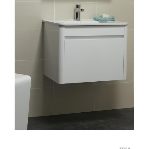 Ella White Wall Hung 60cm Vanity Unit