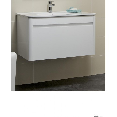 Ella White Wall Hung 80cm Vanity Unit