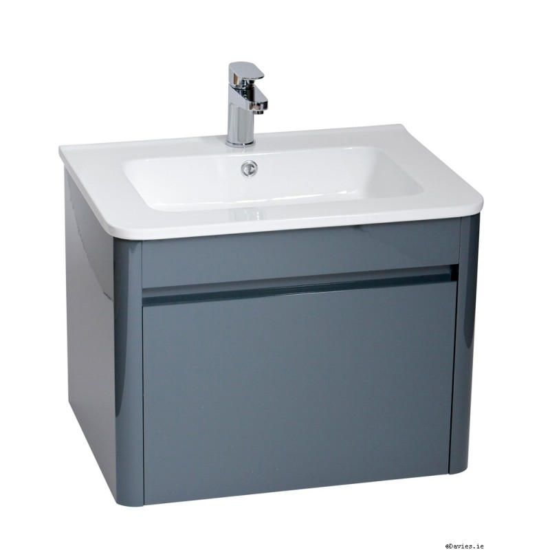 Ella Anthracite Wall Hung 60cm Vanity Unit