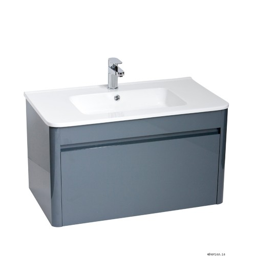 Ella Anthracite Wall Hung 80cm Vanity Unit