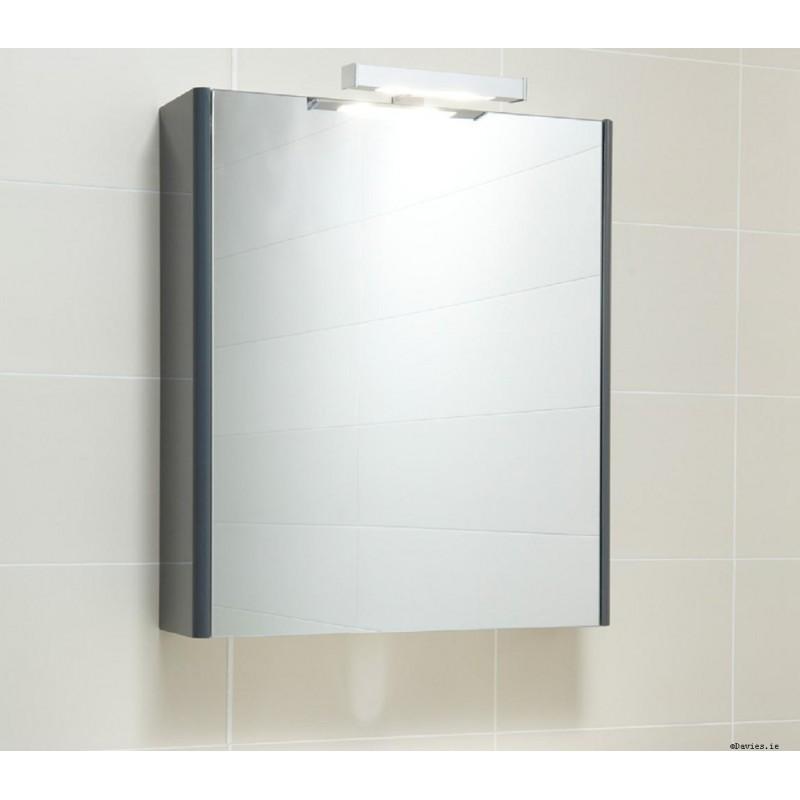 Ella Anthracite Mirror Cabinet 60cm With Light