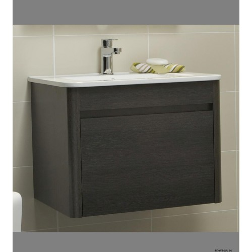 Ella Dark Wood Wall Hung 60cm Vanity Unit