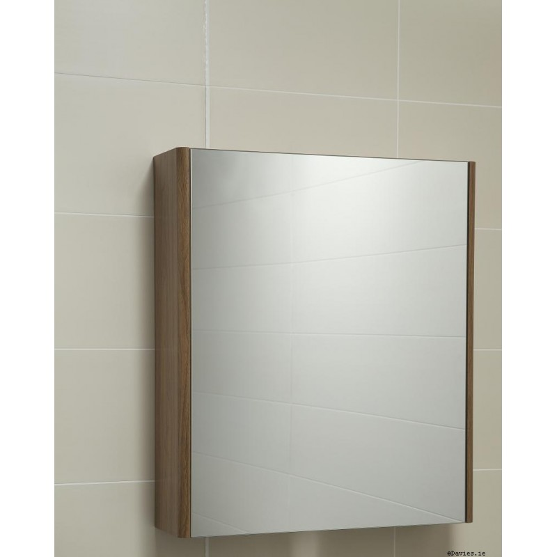 walnut bathroom mirrors ella walnut mirror cabinet 60cm 15015
