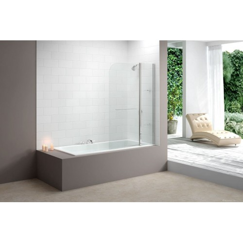 Merlyn Two Panel Bath Screen Chrome MB3 Baths