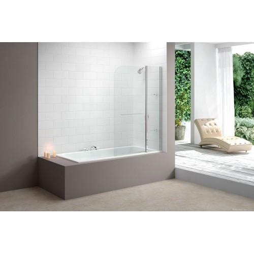 Merlyn Two Panel Bath Screen Chrome MB3
