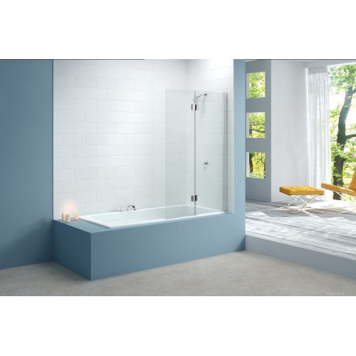 Merlyn Two Panel Bath Screen Chrome MB7 Left Hand