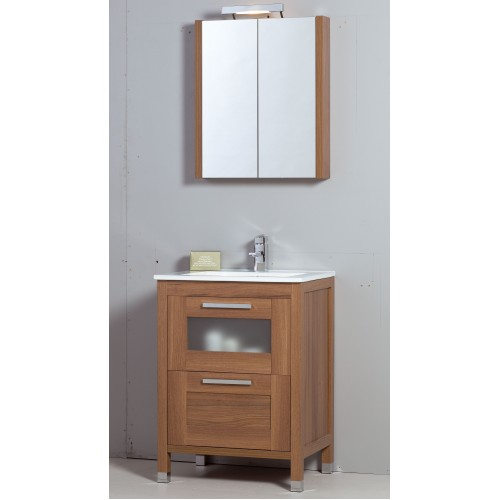 Trend 60cm Walnut Toledo Bathroom Furniture