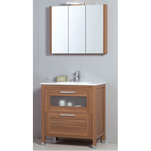 Trend 80cm Walnut Toledo Bathroom Furniture