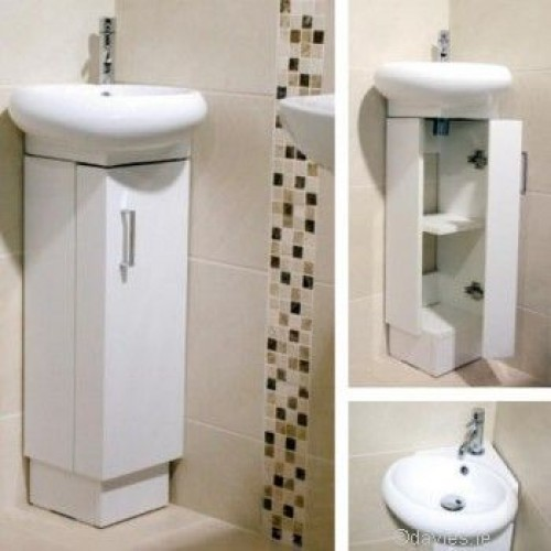 Barca Corner Vanity Unit White Bathroom Furniture
