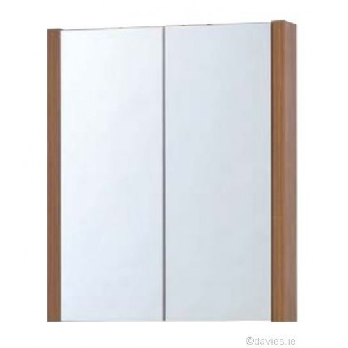 Trend Walnut 55cm Mirror Cabinet Bathroom Furniture