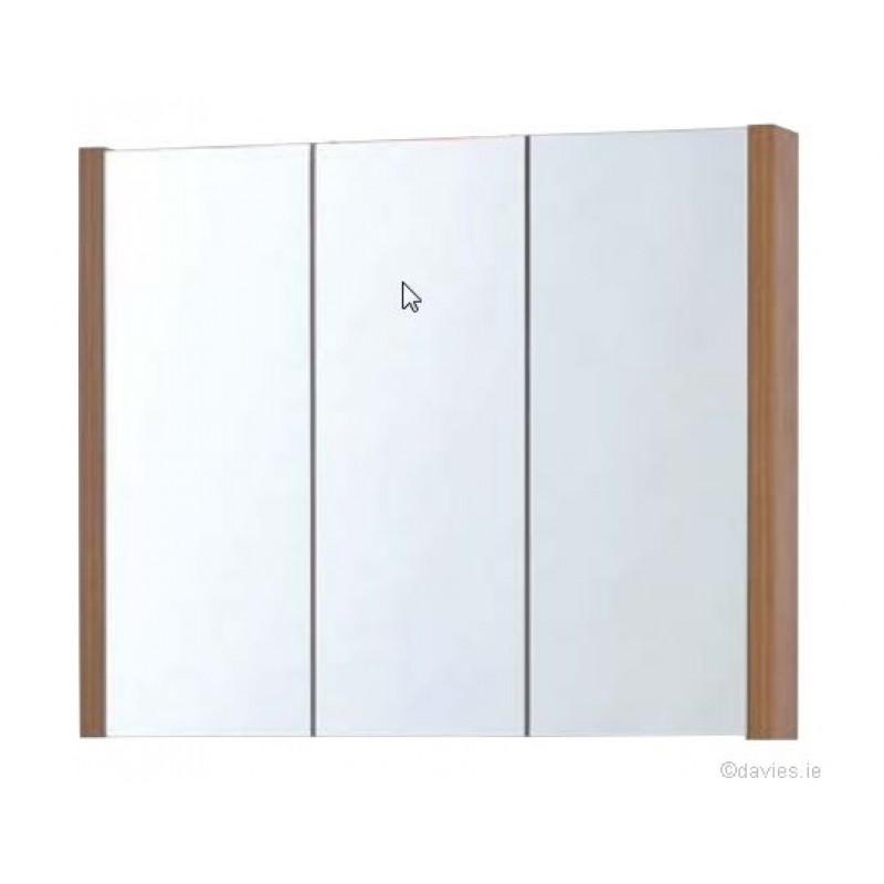 Trend walnut 80cm mirror cabinet sonas davies for Bathroom mirror trends