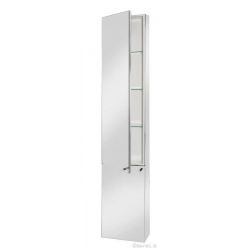 Fusion tall cabinet stainless steel rt large davies for Tall stainless steel bathroom cabinet