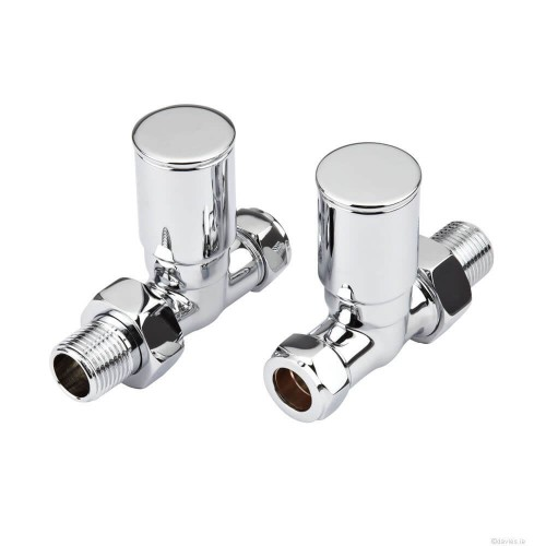 Inta Minimalist Chrome Rad Valves Straight 15mm Accessories