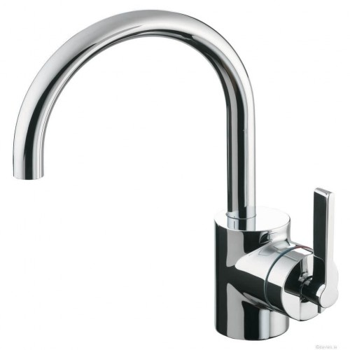 Silver Single Lever Basin Mixer Taps
