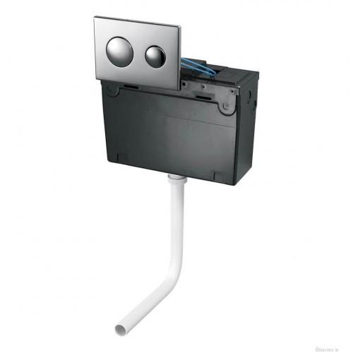 Shanks Concealed Cistern & Dual Flushplate Chrome Flushplate