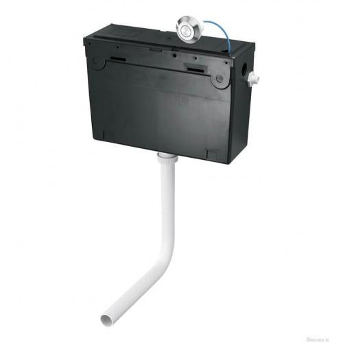 Shanks Concealed Cistern & Single Push Button Flushplate