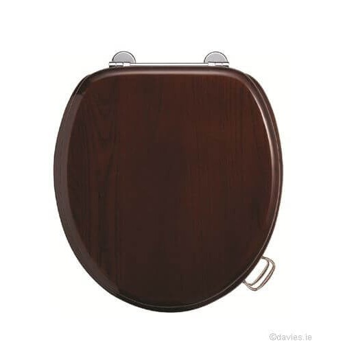 Burlington Mahogany Wooden Seat & Cover Toilet Seats