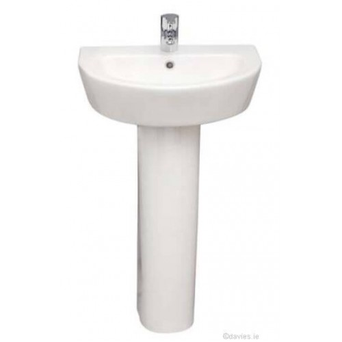 Evoque 55cm 1th Pedestal Basin