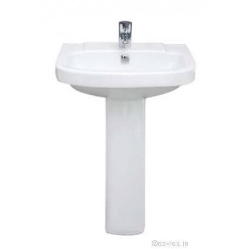 Vitroya 56CM 1TH Pedestal Basin